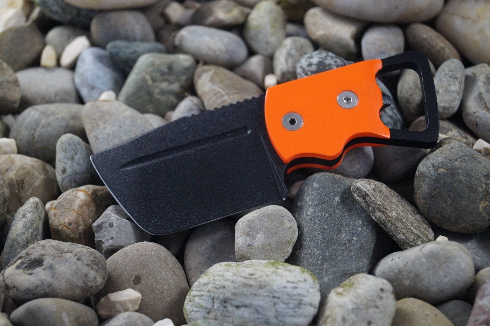 Custom Knife Midgards Messer Njörd Orange S30V + Kydex Handarbeit
