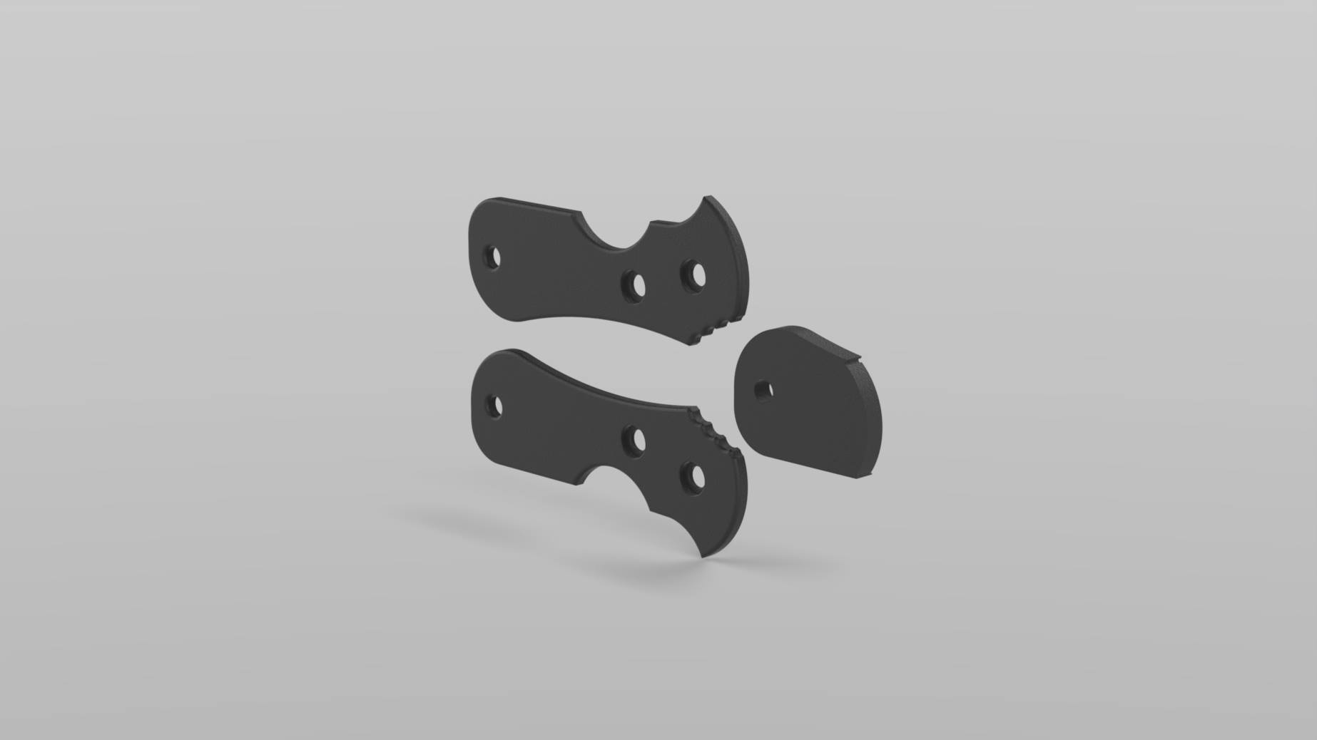 Böker Plus URD 2.0 Griff 4 Finger alle Muster Download zum selber Drucken