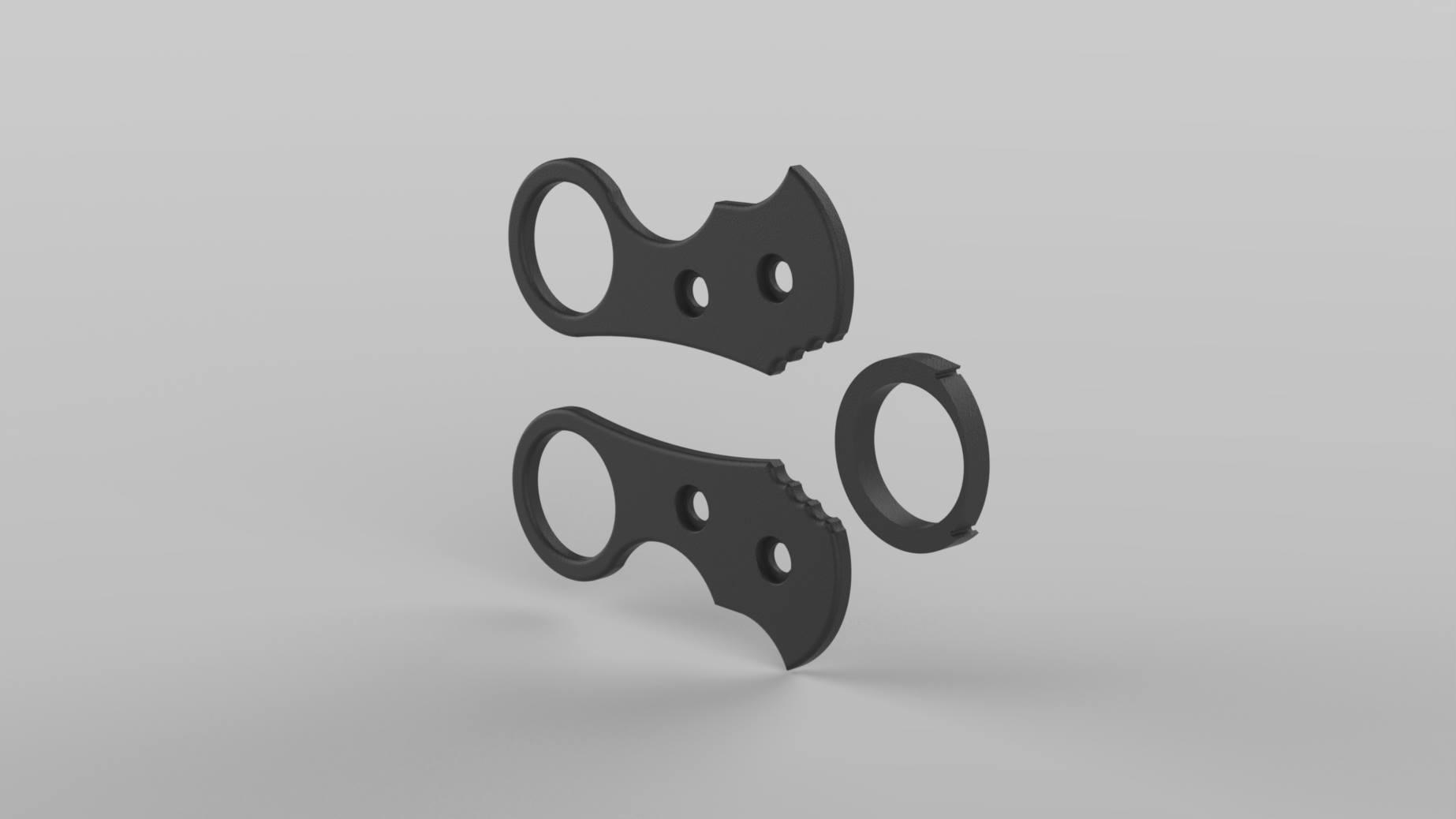 Böker Plus URD 2.0 Griff kleiner Ring alle Muster Download zum selber Drucken
